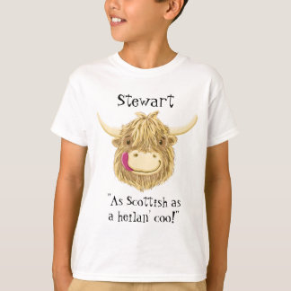 Personalised Name As Scottish As A Highland Cow T-Shirt