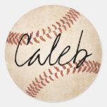 Personalised Name Baseball Stickers