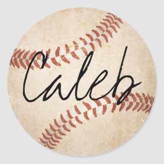 Personalised Name Baseball Stickers