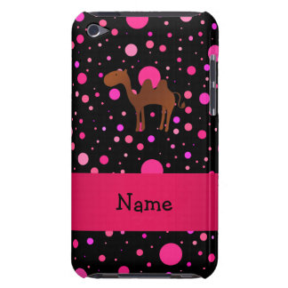 Personalised name camel black pink polka dots iPod touch cases