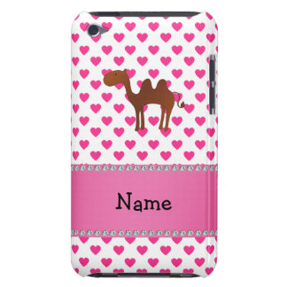 Personalised name camel pink hearts polka dots iPod touch cover