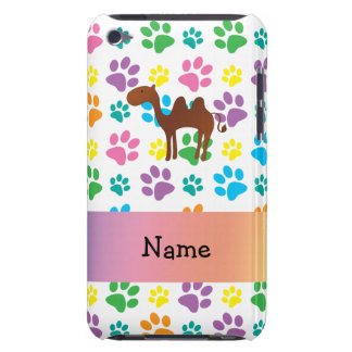 Personalised name camel rainbow paws barely there iPod cases