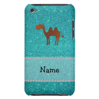 Personalised name camel turquoise glitter iPod touch Case-Mate case