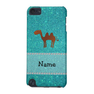 Personalised name camel turquoise glitter iPod touch 5G covers