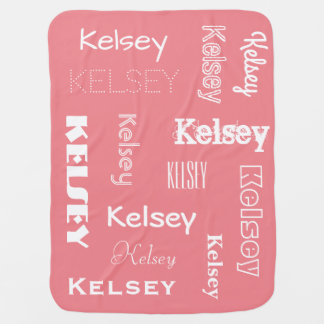 Personalised Name & Changeable Colours Baby Buggy Blankets