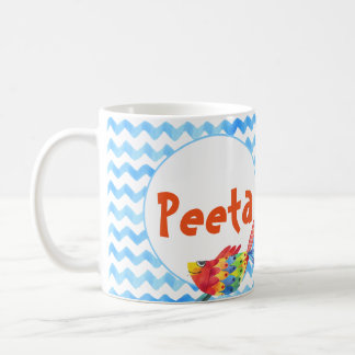 Personalised Name Coffee Mug Sea Watercolor Child
