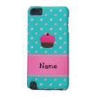 Personalised name cupcake turquoise diamonds iPod touch 5G cover