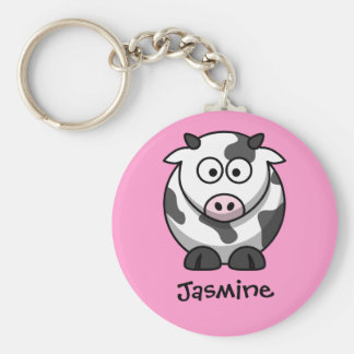 Personalised Name - Cute Cartoon Cow Key Chains