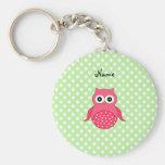 Personalised name cute pink owl