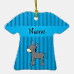 Personalised name donkey blue stripes