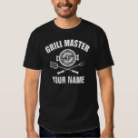personalised name grill master t-shirts
