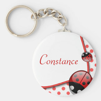 Personalised Name Keyring - Lady Bug