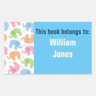 Personalised Name Label - Book/Bag - Any Name Rectangular Sticker