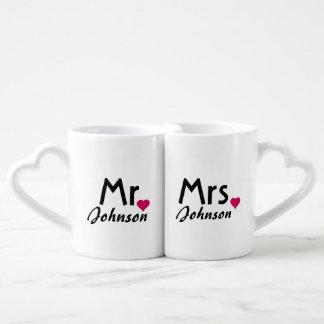 Lovers couple matching mugs from Zazzle