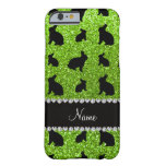 Personalised name neon green glitter bunny