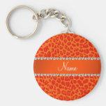 Personalised name orange leopard pattern