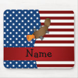 Personalised name Patriotic platypus Mouse Pad