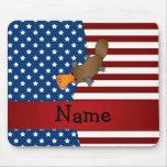 Personalised name Patriotic platypus Mouse Pad