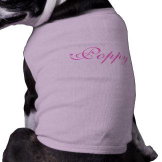 Personalised name pet dog clothing t-shirt, top