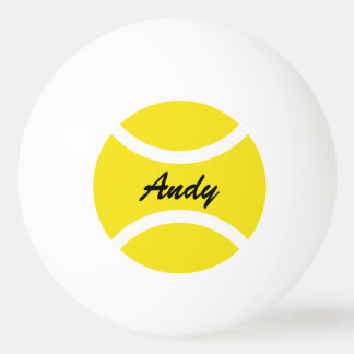 Personalised name ping pong table tennis balls