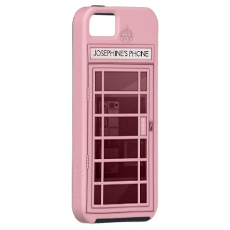 Personalised Name Pink Telephone Box iPhone 5 Case