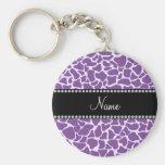 Personalised name purple giraffe pattern