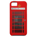 Personalised Name Red Telephone Box iPhone 5 Case