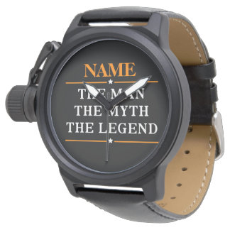 Personalised Name The Man The Myth The Legend Watch