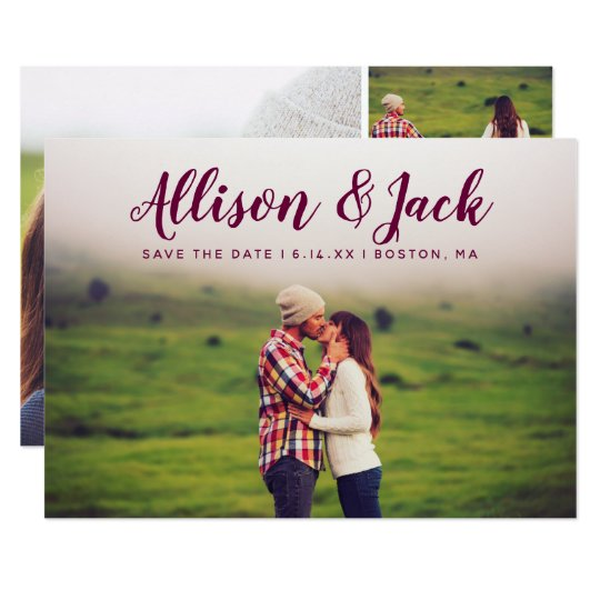 Personalised Names Save The Date Full Photo Card