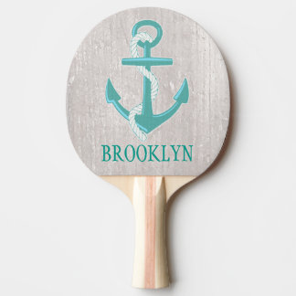 Personalised Nautical Anchor Ping Pong Paddle