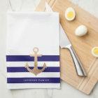 Personalised | Nautical Anchor Tea Towel