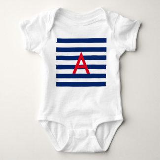 Personalised Nautical Baby Bodysuit
