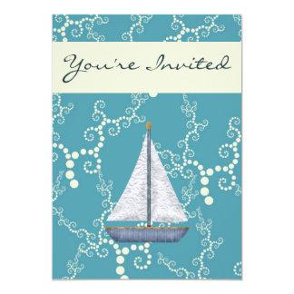 Personalised Nautical Sailboat Birthday Invitation