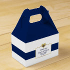 Personalised Navy Blue Nautical Heart Wedding Gift Favour Box
