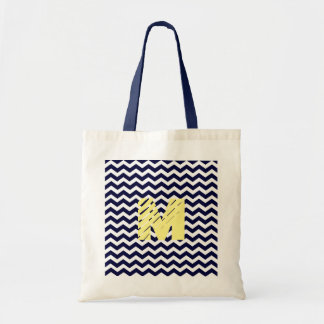 Personalised Navy Nautical Monogram Tote Bag
