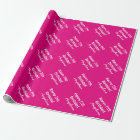 Personalised neon pink Birthday wrappingpaper