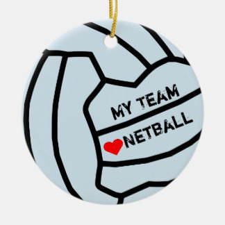 Personalised Netball Ball Design Ceramic Ornament