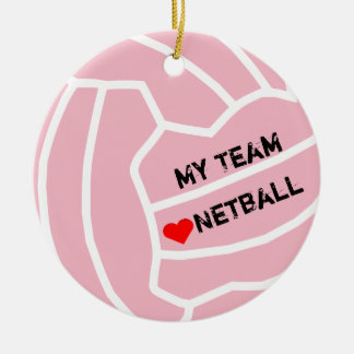 Personalised Netball Ball Theme Ceramic Ornament