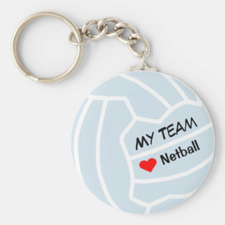 Personalised Netball Theme  Ball Design Key Ring
