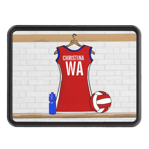 Personalised Netball uniform Trailer Hitch Covers