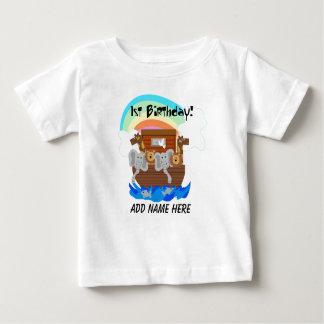 Personalised Noah's Ark 1st Birthday Tshirt