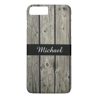 Personalised Old Rustic Weathered Barn Wood Look iPhone 7 Plus Case