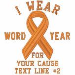 Personalised Orange Ribbon Awareness Embroidery Track Jacket