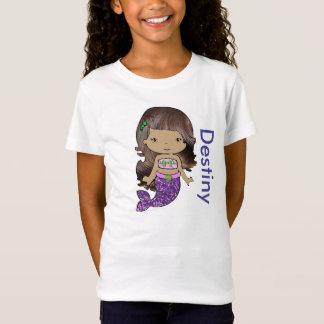 Personalised Organic Mermaid Girls Shirt