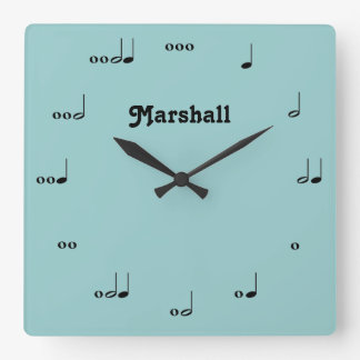 Personalised Original Music Note Clock