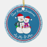 Personalised~Our 1st Christmas As Mr. & Mrs.