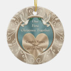 Personalised Our First Christmas Together Ceramic Ornament