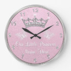 Personalised Our Little Princess Clock, Pink Clock