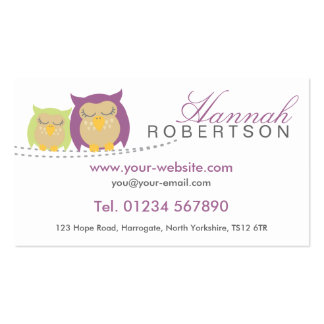 Personalised Owl Business Cards