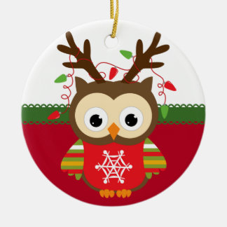 Personalised Owl Christmas Ornament